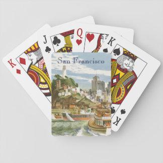Vintage Travel Poster San Francisco Bay Ferry Boat Poker Deck