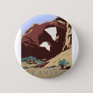 Vintage Travel Poster Southwest America USA 2 Inch Round Button