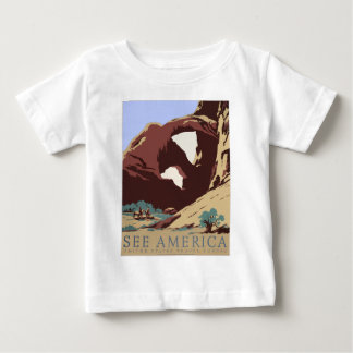 Vintage Travel Poster Southwest America USA Baby T-Shirt