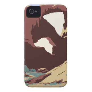 Vintage Travel Poster Southwest America USA iPhone 4 Covers