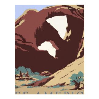 Vintage Travel Poster Southwest America USA Letterhead
