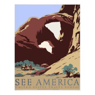 Vintage Travel Poster Southwest America USA Postcard