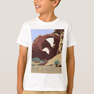 Vintage Travel Poster Southwest America USA T-Shirt