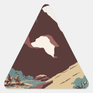 Vintage Travel Poster Southwest America USA Triangle Sticker