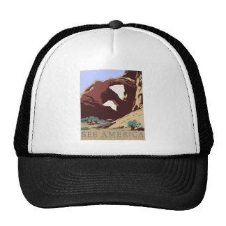 Vintage-Travel-Poster-Southwest-America-USA Trucker Hat