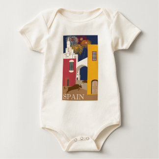 Vintage-Travel-Poster-Spain Baby Bodysuit