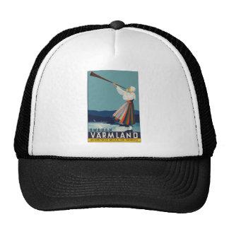 Vintage-Travel-Poster-Sweden Trucker Hat