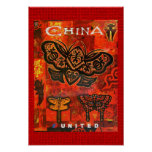 Vintage Travel Poster United China