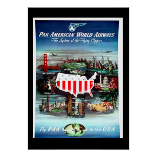 Vintage travel Poster USA