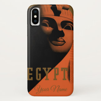 Vintage Travel Poster with Sphinx, Egypt, Africa iPhone X Case