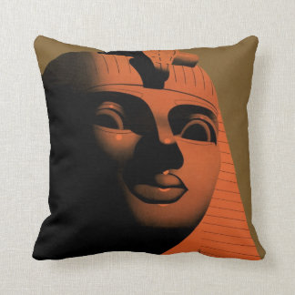 Vintage Travel Poster with Sphinx, Egypt, Africa Throw Pillow