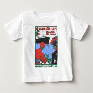 Vintage Travel Posters: Allan Line Glasgow London Baby T-Shirt