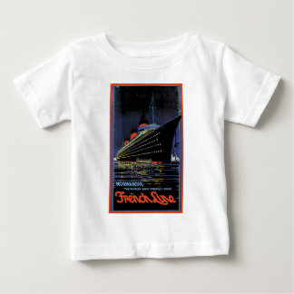 Vintage Travel Posters: French Line Normandie T-shirts
