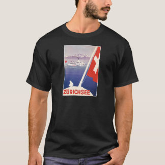 Vintage Travel Posters: Lake Zurich Switzerland T-Shirt