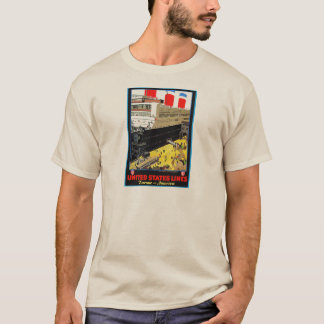 Vintage Travel Posters: United States Lines T-Shirt