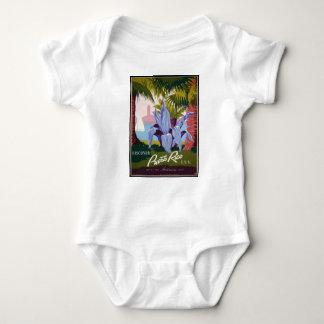Vintage Travel Puerto Rico Baby Bodysuit