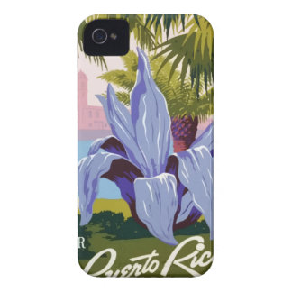 Vintage Travel Puerto Rico Case-Mate iPhone 4 Cases