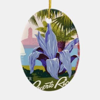 Vintage Travel Puerto Rico Ceramic Ornament