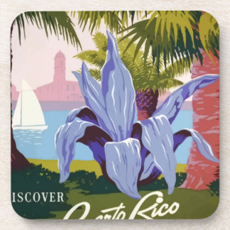 Vintage Travel Puerto Rico Coaster