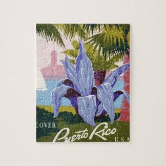 Vintage Travel Puerto Rico Jigsaw Puzzle
