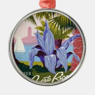Vintage Travel Puerto Rico Metal Ornament