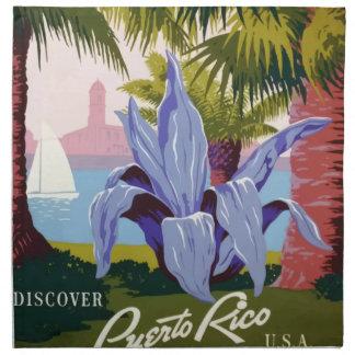 Vintage Travel Puerto Rico Napkin