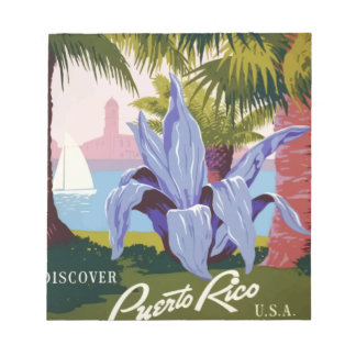 Vintage Travel Puerto Rico Notepad