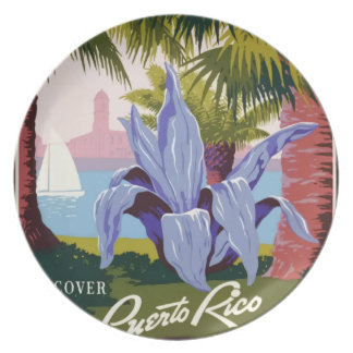 Vintage Travel Puerto Rico Plate