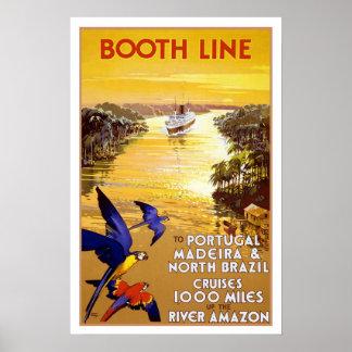 Vintage travel,Quantas-Amazon cruise Poster