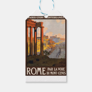 Vintage Travel Rome Italy 1920 Gift Tags