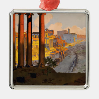Vintage Travel Rome Italy 1920 Metal Ornament