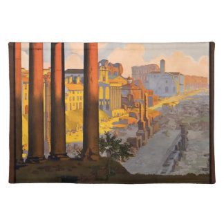 Vintage Travel Rome Italy 1920 Placemat