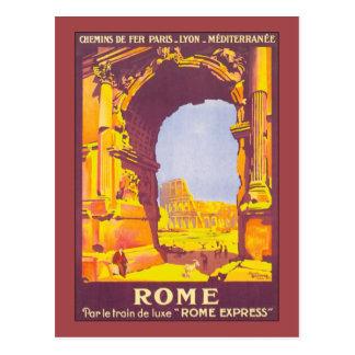 Vintage Travel, Rome Italy Italian Coliseum Postcard
