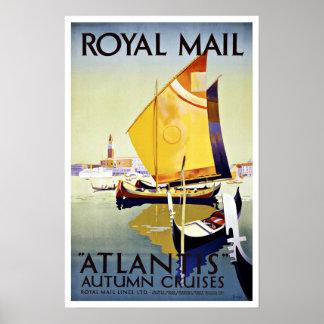 Vintage Travel Royal Mail Atlantis Poster