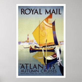 Vintage travel,Royal Mail Cruises Poster