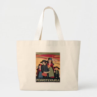 Vintage Travel Rural Pennsylvania Large Tote Bag