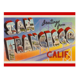Vintage Travel San Francisco Postcard