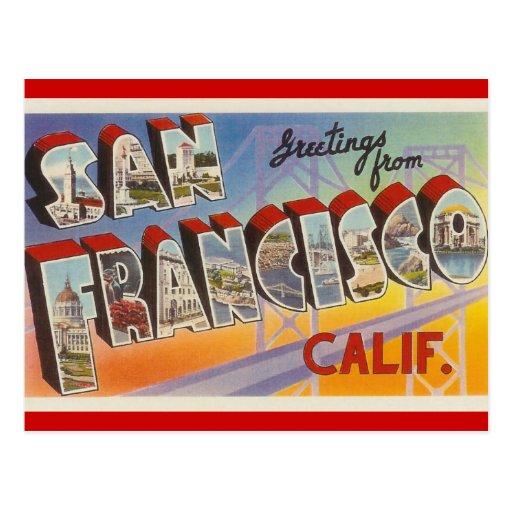 Vintage Travel San Francisco Post Card