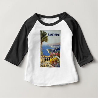 Vintage Travel Sanremo Italy Baby T-Shirt