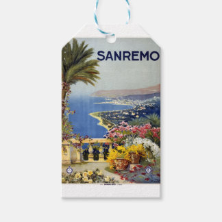 Vintage Travel Sanremo Italy Gift Tags