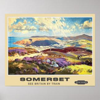 Vintage Travel,Somerset Poster