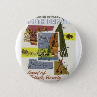 Vintage Travel South Dakota USA 2 Inch Round Button