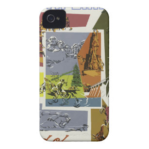 Vintage Travel South Dakota USA iPhone 4 Case-Mate Case