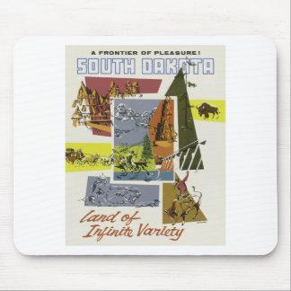 Vintage Travel South Dakota USA Mouse Pad