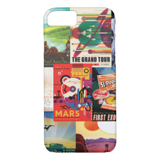 Vintage travel space poster collection iPhone 7 case
