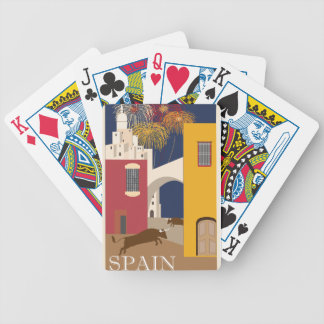 Vintage Travel Spain Bicycle Playing Cards