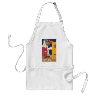 Vintage Travel Spain Standard Apron