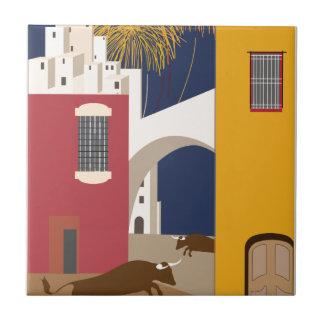 Vintage Travel Spain Tile