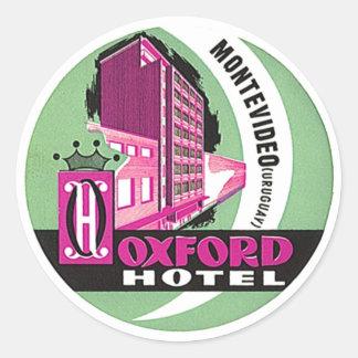Vintage Travel Stickers Montevideo Uruguay O Hotel