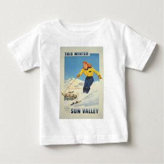 Vintage Travel Sun Valley Idaho Baby T-Shirt